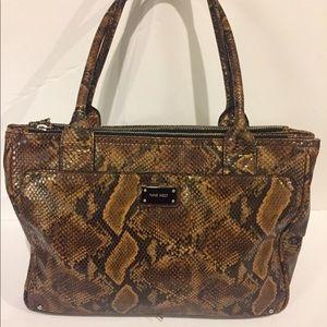 Ninewest Faux Snake Skin Handbag